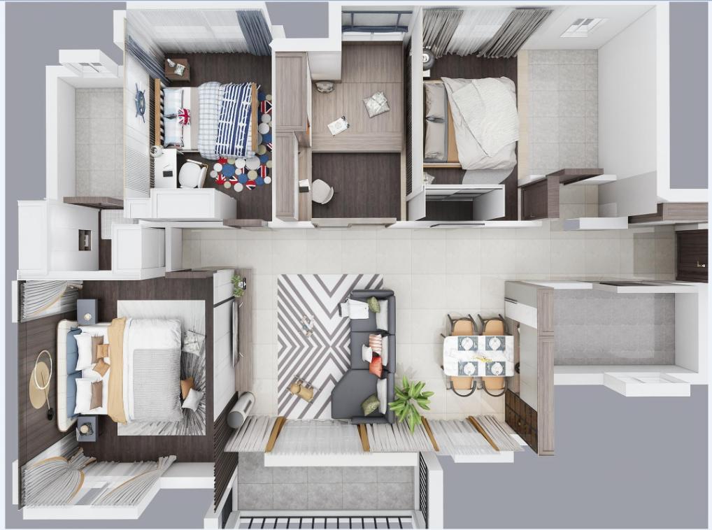129㎡简装房怎么改造?打破硬装限制,巧妙利用空间!