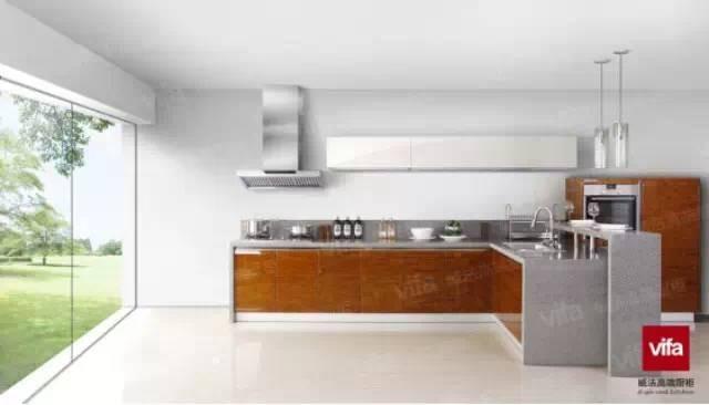 金属质感的时尚简约,vifa威法橱柜为你呈现理想家居